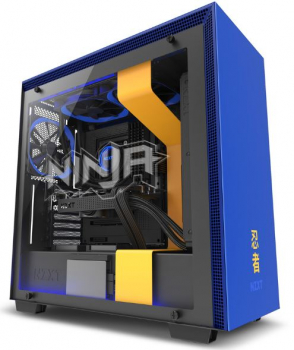NZXT H700i Ninja - Midi-Tower Tempered Glass - Blau/Gelb