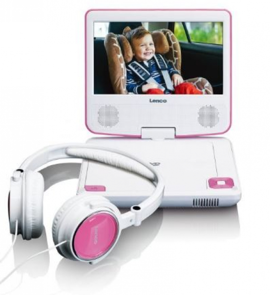 lenco dvp 710 tragbarer dvd player 7 zoll lcd pink. Black Bedroom Furniture Sets. Home Design Ideas